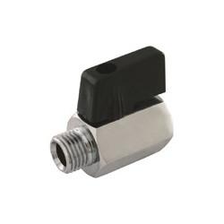 "Mini Ball valve short handle 1/4"" MF"
