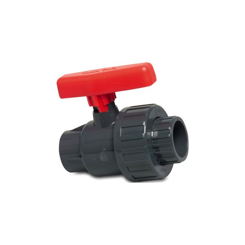 "Ball valve with single union 1.25"""