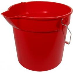 Red plastic bucket 10L