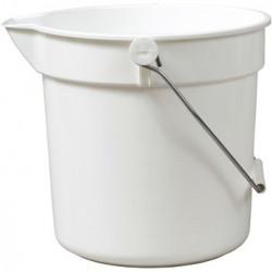 White plastic bucket 10L
