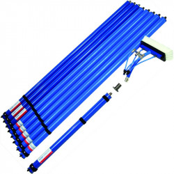 Complete set of Qleen Carbon poles 13.35m