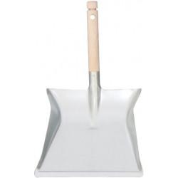 Dustpan galvanised + wooden handle