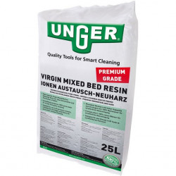 25L bag of Unger hi-capacity DI mixed bed resin for window cleaning