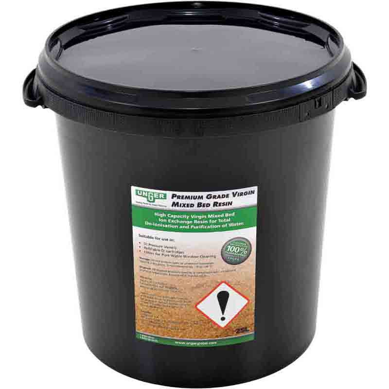 25L Unger premium grade Virgin DI resin with a re-sealable bucket