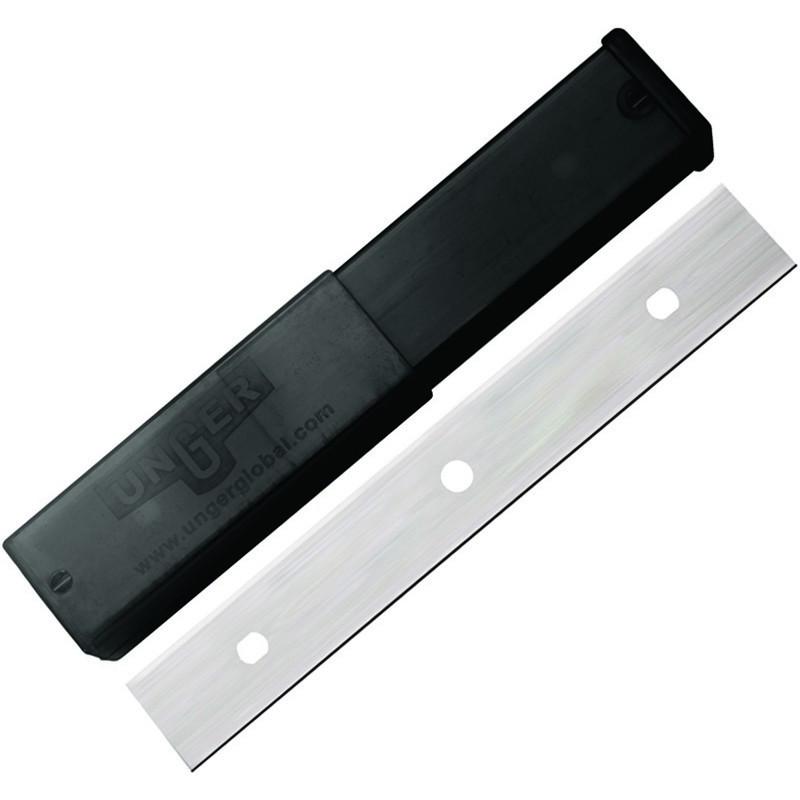 "Pack of 25 Unger premium stainless steel scraper blades 6"""