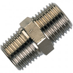 Equal nickel plated brass male nipple 1/2""