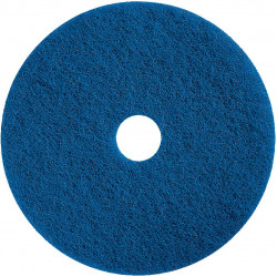 "Moderate scrubbing or heavy wet spray cleaning blue 15"" floor pad (pack of 5)"