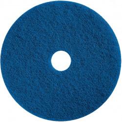 "Pack of 5 blue 17"" scrubbing floor pads"