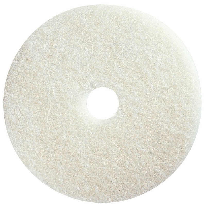 "Non-aggressive polishing white 17"" floor pad (pack of 5)"