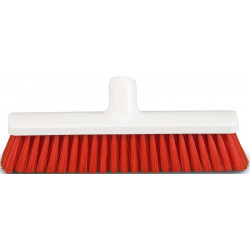 "Hygienic Broom head 30cm/12"", soft, red bristles"