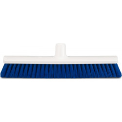 Hygienic Broom head 40cm soft, blue bristles