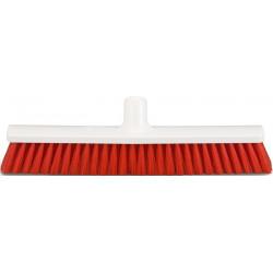 Hygienic Broom head 40cm soft, red bristles