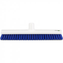 "Hygienic Broom scrubber 40cm/16"",stiff, blue bristles"