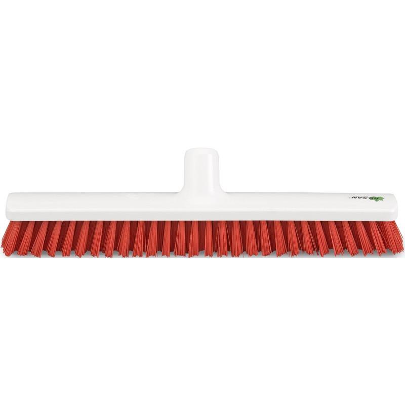 "Hygienic Broom scrubber 40cm/16"", stiff, red bristles"