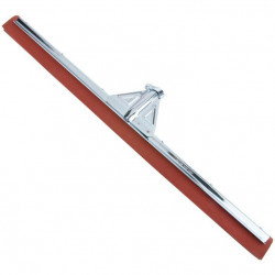 "Heavy duty Metal Floor squeegee with red neoprene rubber 22""/55 cm"
