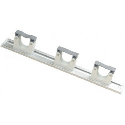 Hang Up alum rail with 3 holders 30-40mm