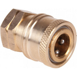 "Brass Female 1/4"" Quick coupler for HP nozzles"
