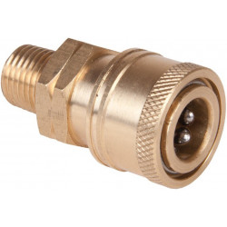 "Brass Male 1/4"" Quick coupler for HP nozzles"