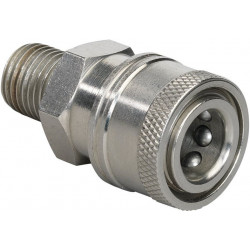 "Stainless steel Male 1/4"" Quick coupler for HP nozzles"
