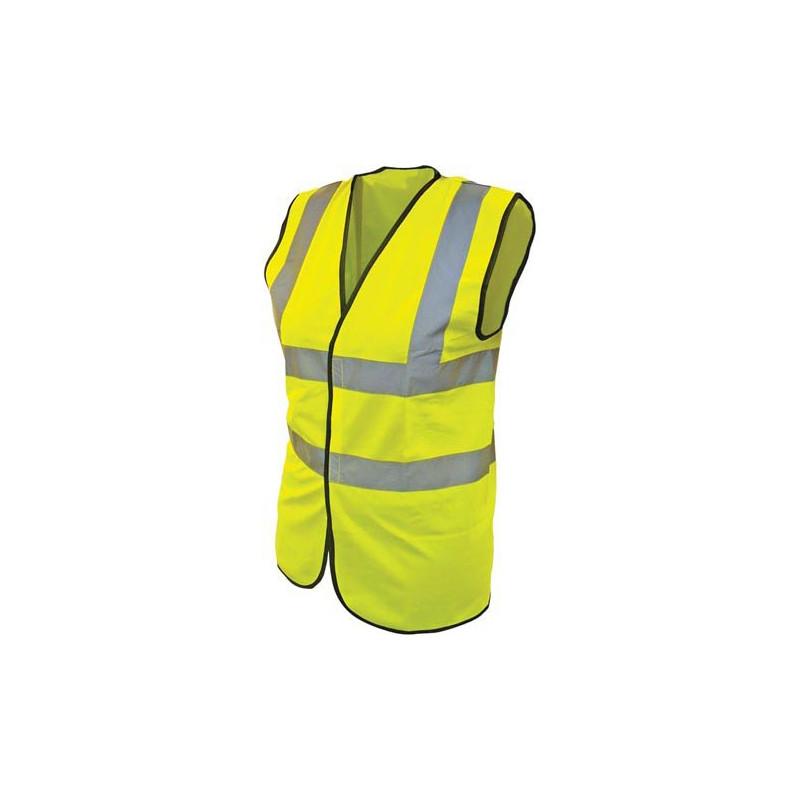 High Visibility Yellow Waistcoat EN 471 class 2