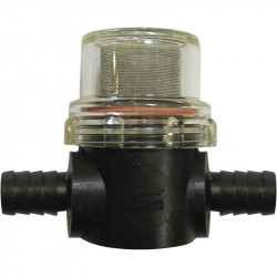 "Shurflo In-Line Strainer with 1/2"" hose barbs"