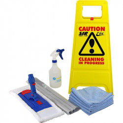 Flat Mop and Cleaning Starter Kit