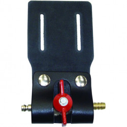Flow control holster for minibore / microbore tap assemblies