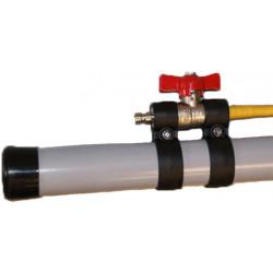 Inline pole flow controller