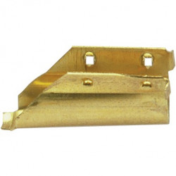 Brass end channel clip