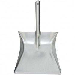 Metal Dustpan galvanised light