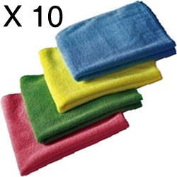 40 Spotless microfibre clothes - 40 X40cm 4 colours pack