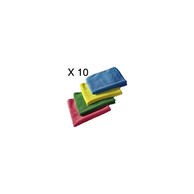 40 Spotless microfibre clothes - 40 X40cm 4 colours pack