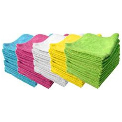 50 microfibre clothes - 40 X40cm 5 colours pack