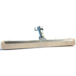 Metal Floor squeegee with white hygienic rubber 45cm
