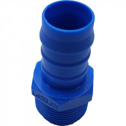 """Male nylon hose barb 19mm with 3/4"""" male thread"""