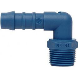 Male nylon elbow hose tail 6mm x 1/4 thread