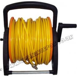 Mini hose reel with 50m microbore