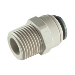 "Male connector 3/8""  BSP to 1/4"" Tube"