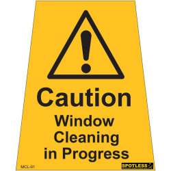 """Window Cleaning in Progress"" sticker"