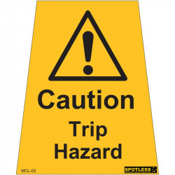 """Caution Trip Hazard"" sticker"