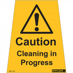 """Cleaning in Progress"" sticker"