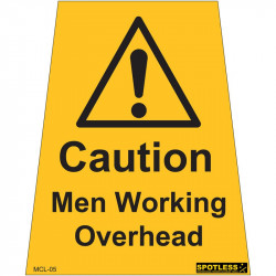 """Men Working Overhead"" sticker"