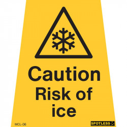 """Caution risk of ice"" sticker"