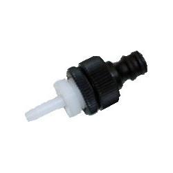 Lightweight nylon pole hose connector
