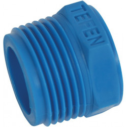 "Plastic reducing bush 3/4"" to 1/2"" internal thread"