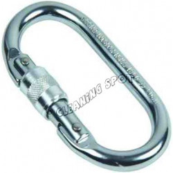 Steel Oval screw gate Karabiner
