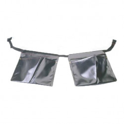 Set of Double PVC Pouches and Belt