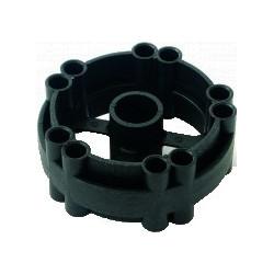 Plastic centre joiner for metal hose reel