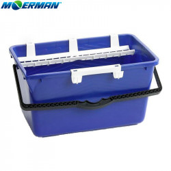 Moerman Blue Bucket 18L with Sieve and Holder