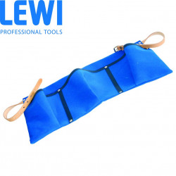 Lewi Blue Canvas Apron with 3 Pockets